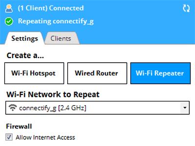 حول جهاز اللابتوب خاصتك وجهازك المكتبي الى راوتر واى فاى مع البرنامج العملاق Connectify Hotspot Pro  REPEATER-MODE